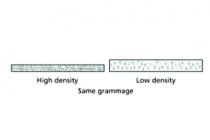 offset cardboard - density