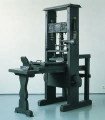 printing press Gutenberg